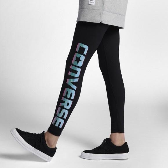 f4816eda8aff Black CONVERSE leggings ... women s small